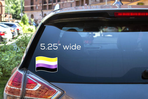 Non-Binary Flag Decal