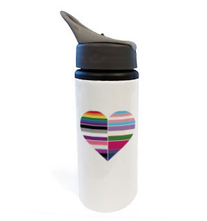 Heart of Flags Water Bottle