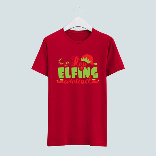 Stop Elfing Around tee