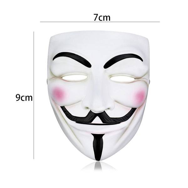 V For Vendetta Mask Halloween's Anonymous Guy Fawkes for Men
