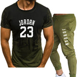 2 piece Men's Jordan 23 T-shirt and pants for summer basketball shirt set