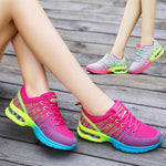 2018 Women Shoes Spring Autumn New Sports Ladies Shoes Walking Breathable Mesh Flat Shoes Casual Running Sneakers Platform Shoe