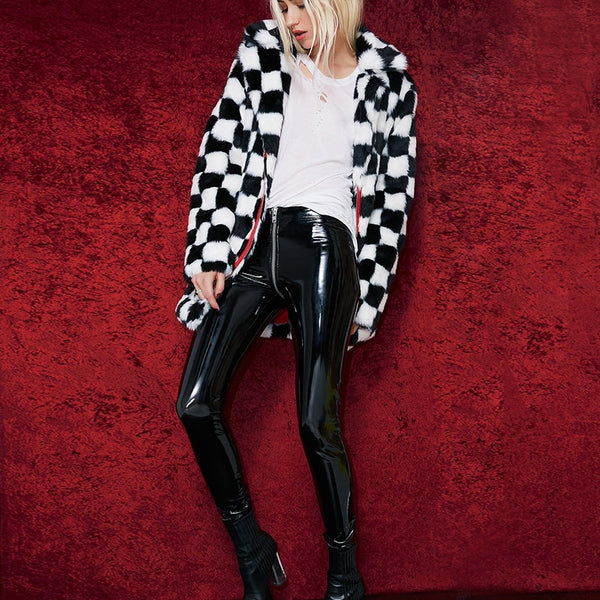828023c71a ... 2019 Women Sexy Shiny PU leather Leggings with Back Zipper Push Up Faux  Leather Pants Latex ...