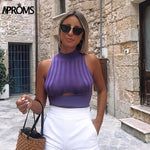 Aproms Solid Color Knitted Tank Tops Women Autumn Winter Bodycon Slim Fit Crop Top Female Streetwear Sexy Cut Out Ladies Tops