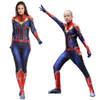 Captain Marvel Halloween Costume For Kids And Adults Cosplay Costume 3 Buniversestyle The outfit that brie larson wears in captain marvel for her role as captain marvel is a custom made costume for the movie. captain marvel halloween costume for