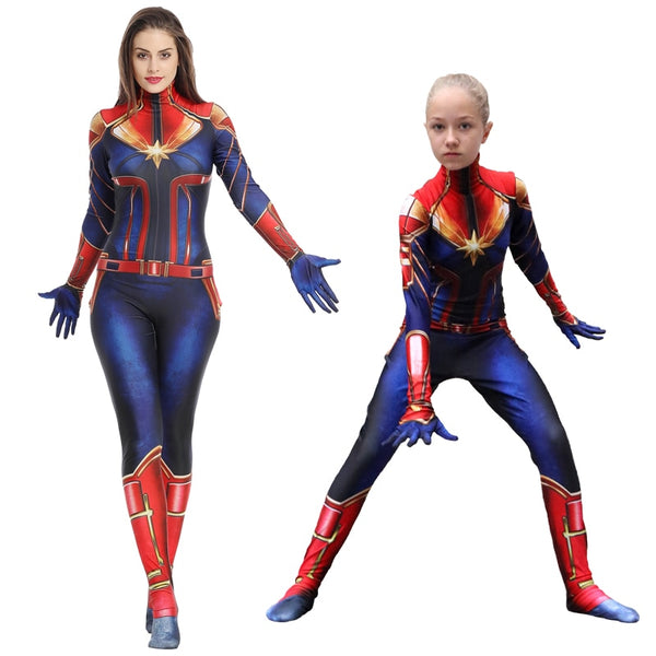 Captain Marvel Halloween Costume For Kids And Adults Cosplay Costume 3 Buniversestyle Marvel kids captain america winter soldier costume. captain marvel halloween costume for