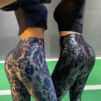 Elastic Snake Print Leggings Women Sexy Butt Lift High Waist Yoga Pants