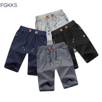 FGKKS 2018 Solid Color Men Shorts New Summer Fashion Mens Beach Shorts Cotton Casual Male Shorts Homme Brand Clothing