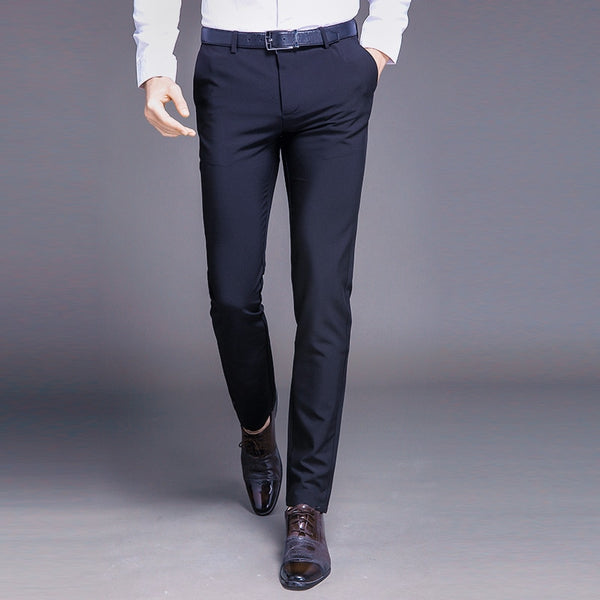 Fashion New High Quality Cotton Men Pants Straight Spring and Summer Long Male Classic Business Casual Trousers Full Length Mid