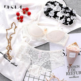 Fashion Sexy Bra Sets Plus Size C D Cup Thin Cotton Underwear Women Set Lace Comfortable Brassiere Gray Bras Embroidery Lingerie