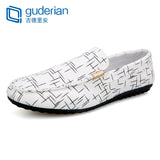 GUDERIAN Loafers Men Shoes Casual Spring Summer Light Canvas Shoes Men Breathable Fashion Flat Man Shoes Alpargatas Hombre