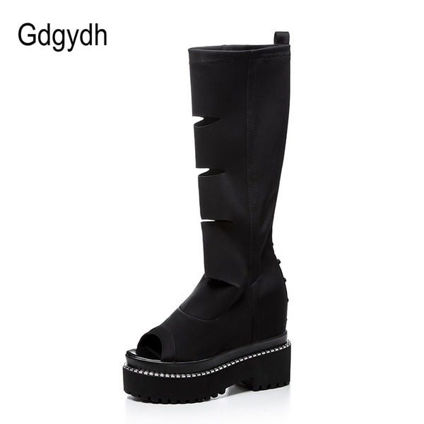 New Spring Open Toe High Heels Boots Women's Shoes for Summer