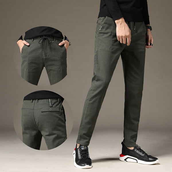 9dcce6de HCXY brand 2019 HCXY Autumn Spring New Men's Smart Casual Pants Male ...
