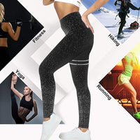 HEFLASHOR Solid Push Up Dot Printed Leggings High Waisted Workout Sweatpants Women Sports Running Pants Fitness Trousers Female