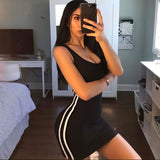 ZSIIBO Sexy Women Summer Dress Bandage Bodycon Sleeveless Evening Party Club Short Mini Dress 2019 Fashion Women Clothes