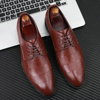 Handmade Italian Style Retro Men Leather Dress Formal Business Oxfords Shoes Men's  Party Shoes Big size 38-48 VV-39Z