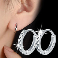 High Quality Solid Real 925 Sterling Silver Mini Slim Circle Small Stud Earring For Women Mens Children Girls Kids Jewelry 1Y231