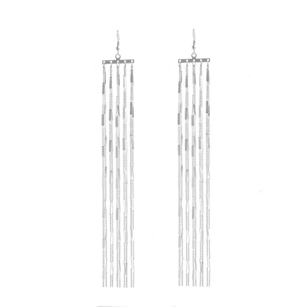 Ingesight.Z Bohemia Long Tassel Drop Dangle Earring for Women Big Large Metal Earrings Vintage Earrings Jewelry Gift