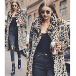 KANCOOLD coats and jackets women Leopard Sexy Winter Warm Faux Fur Outwear fashion cotton clothing new jacket women 2018Oct17