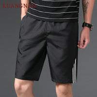 KUANGNAN Japanese Casual Shorts Men Drawstring Red Striped Streetwear Mens Shorts Summer Men Shorts Beach 5XL Clothing 2018