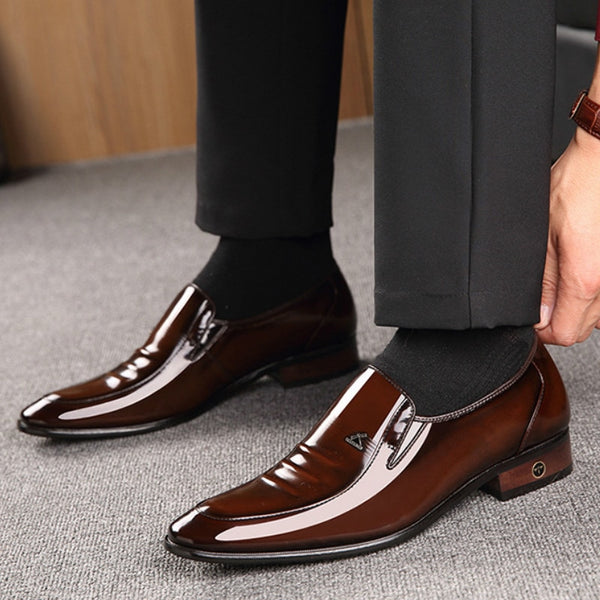 Leather men's shoes British business suit men's shoes Genuine Leather  wedding shoes men  dress shoes for men