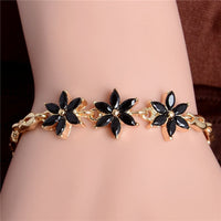 MISANANRYNE Gold Color Beautiful Waterdrop Austrian Crystal Bracelet For Women Wedding Party Jewelry Female Bracelet Wholesale