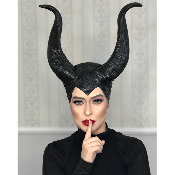Maleficent Horns Cosplay Mask Headgear Halloween for Women