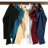 Men Casual Pants spring summer New Fashion 2019 multi color Slim long pants Straight  Male Pocket men's trousers pantalon hombre