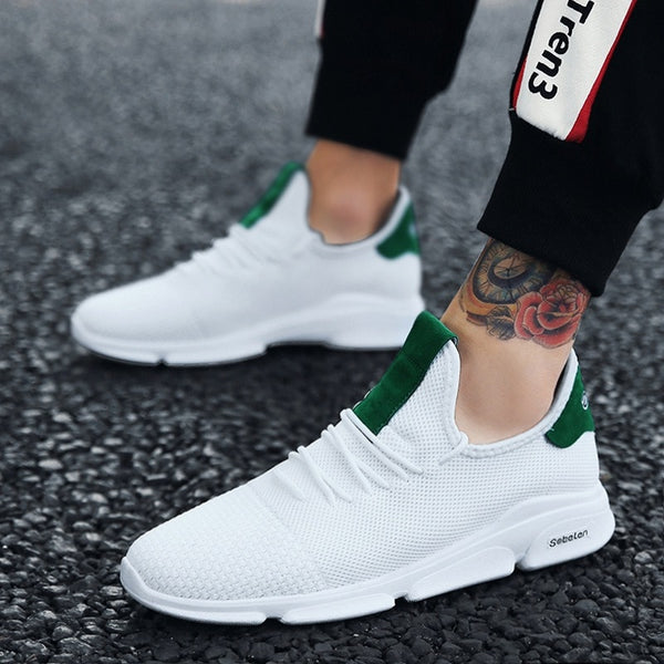 Men Mesh Casual Shoes Breathable 2018  new Summer Spring Knitted Fly weaving Flats SHOES Male Fashion Footwear