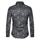 Men Shirt Long Sleeve Top 2019 Floral Male Blouse Casual Shirts Summer Autumn Shirts hawaiian Men Clothes camisa masculina