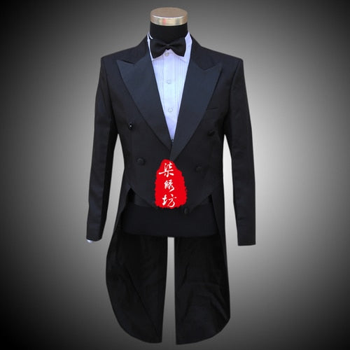 Mens Black White Suits Jacket Pants Formal Dress Men Suit Set men wedding suits groom tuxedos for men blazer