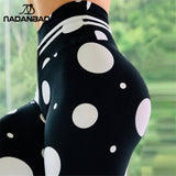 NADANBAO New 2019 Fitness Leggings Women Sporting Fitness Legging For Woman Circle Printed Workout High Waist Leggins Puls Size
