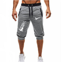 New Fashion Summer Leisure Men Knee Length Shorts Color Patchwork JUST BREAK IT Joggers Short Sweatpants Man Bermuda Shorts