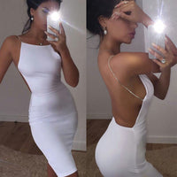 New Fashion Women's Sexy Sleeveless Backless Summer Party Dress