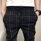 New Pants Men Slim Fit British Plaid Mens Pants Fashion High Quality 2019 Summer Casual Young Man Hip Hop Trousers Male Hot Sale