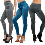 Newly Women Thin Jeans Leggings with Pocket High Waist Slim Fit Denim Pants Trousers