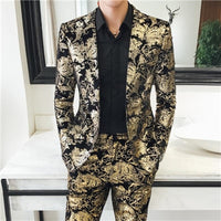 Noble Men's Suit Jackets and Suit Trousers Fashion High Quality Suits Coats and Pants Large Size S-5XL