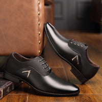 OSCO Men Dress Shoes Men Formal Shoes Leather Luxury Fashion Wedding Shoes Men Business Casual Oxford Shoes