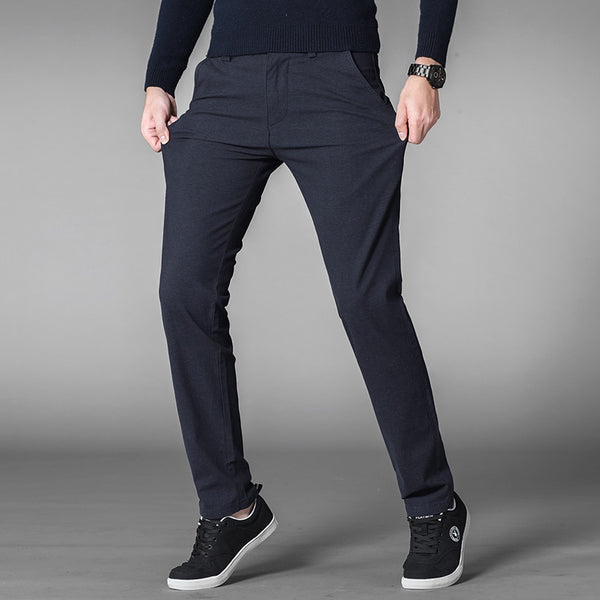 Plus Size 42 44 46 Casual Pants Men 2019 Spring New Business Fashion Elastic Force Trousers Male Brand Clothes