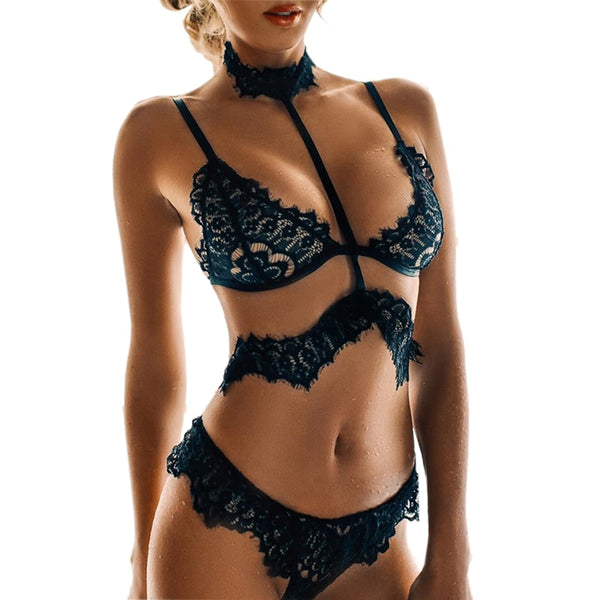 Sexy Women's Lingerie Hot Lace Black Sexy Lingerie With Lace Choker