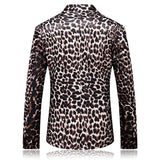 Plyesxale Men Blazer Suit 2018 New Arrival Slim Fit Mens Leopard Print Blazer High Quality Spring Autumn
