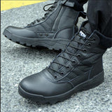 QIUBOSS Winter Military leather boots for men Combat bot Infantry tactical boots askeri bot army  army shoes erkek ayakkabi Q718