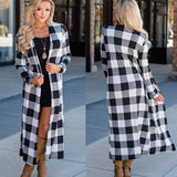 Rogi Summer Autumn Plaid Long Cardigan Women 2019 Casual Long Sleeve Cardigan Fashion Patchwork Color Block Slim Lady Outerwear
