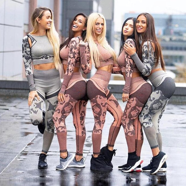 Yoga Sets Workout Clothes Leggings and Top Sportwear For Women