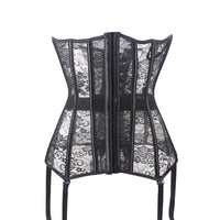 Sexy Corset Lace up Bustier Black Lace corselet steampunk Corset plastic bone corsets and bustiers plus size corset for women
