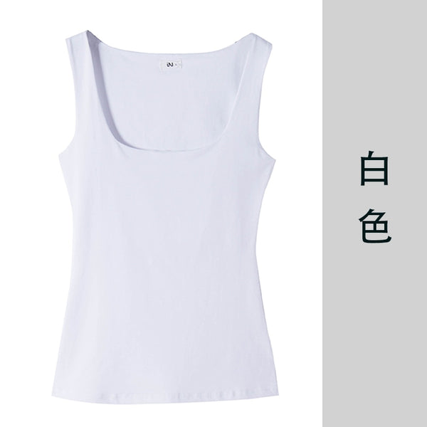 Sexy Low-Cut Tank Tops Women Large U-neck Bottoming Cotton Basic Tanks Sexy Nightclubs Clothing Plus Size Tanks Black White Gray
