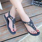Shoes woman 2019 new hot sale fashion rhinestone summer sandals women clip toe women sandals comfortable beach ladies shoes