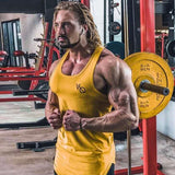 Sleeveless Gym T Shirt Sport Vest Running T Shirt Fitness Tank Top Cotton Dry Fit Running Tshirt Bodybuilding Gym Sport Shirt