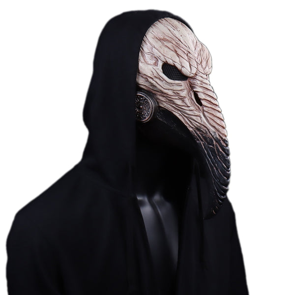 Plague Doctor Latex Halloween Mask Cosplay Long Nose Bird Beak for Men Unisex