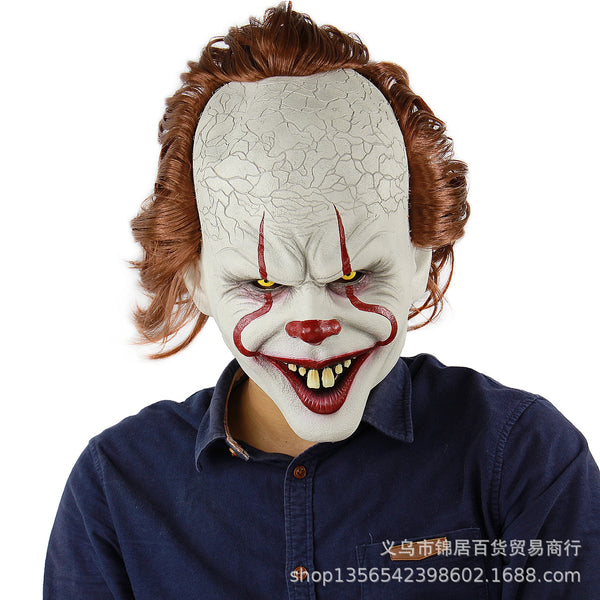 It Mask Pennywise Horror Clown Halloween Latex Mask for Men